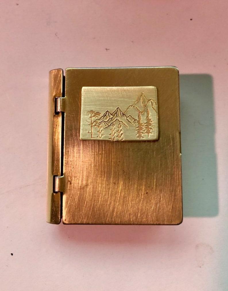 Vintage wilderness book locket necklace