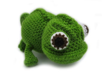 Crochet Chameleon Amigurumi -  Reptile Stuffed Toy - Amphibian plushie - MADE TO ORDER