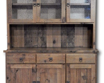 Barn Wood Hutch Large Multi Cabinet And Drawers