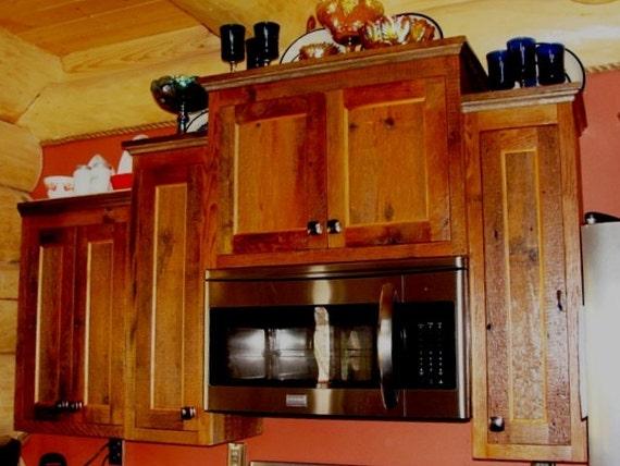 Barnwood Kitchen Cabinets Custom Cabinets Etsy