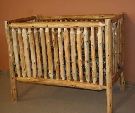 Superbe Cedar Log Baby Crib | Etsy