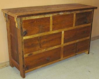 Barnwood Dresser - Reclaimed Wood Dresser