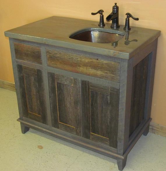 Merveilleux Antique Gray Weathered Bath Vanity | Etsy