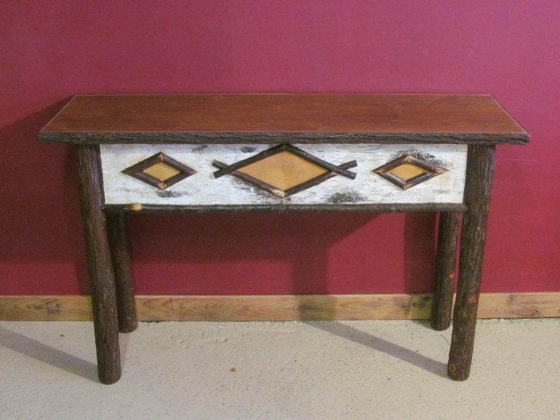 Tremendous Hickory Log Sofa Table Old Fashioned Hickory Sofa Table Adirondack Style Sofa Table Alphanode Cool Chair Designs And Ideas Alphanodeonline