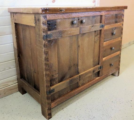Barn Wood Vanity Batten Door Style Etsy