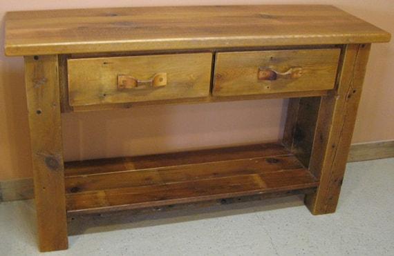Barnwood Sofa Table Etsy
