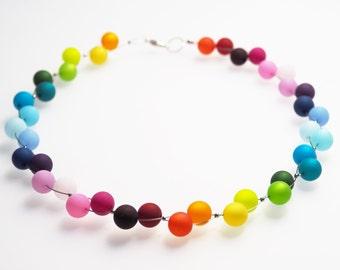 rainbow necklace polaris colorful beads pride
