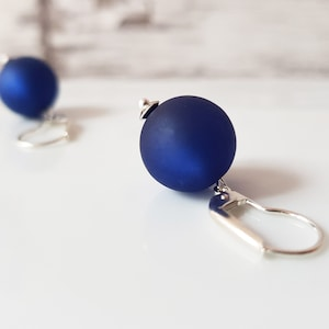blue earrings polaris coins in your favorite color 925er silver