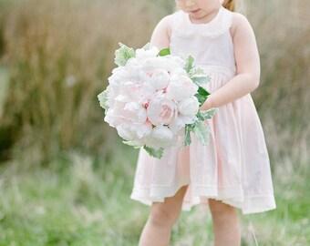 Peony Bouquet Pale Pink - Ranunculus & Peony Wedding Bridal Bouquet