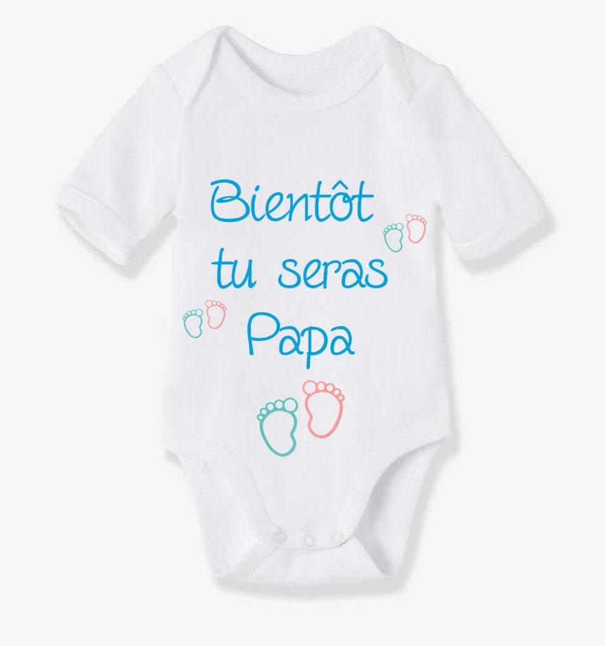 8f8ccc541 Custom personalized baby Bodysuit pregnancy announcement! Dad, Grandpa,  Grandma, aunt and uncle gift idea!