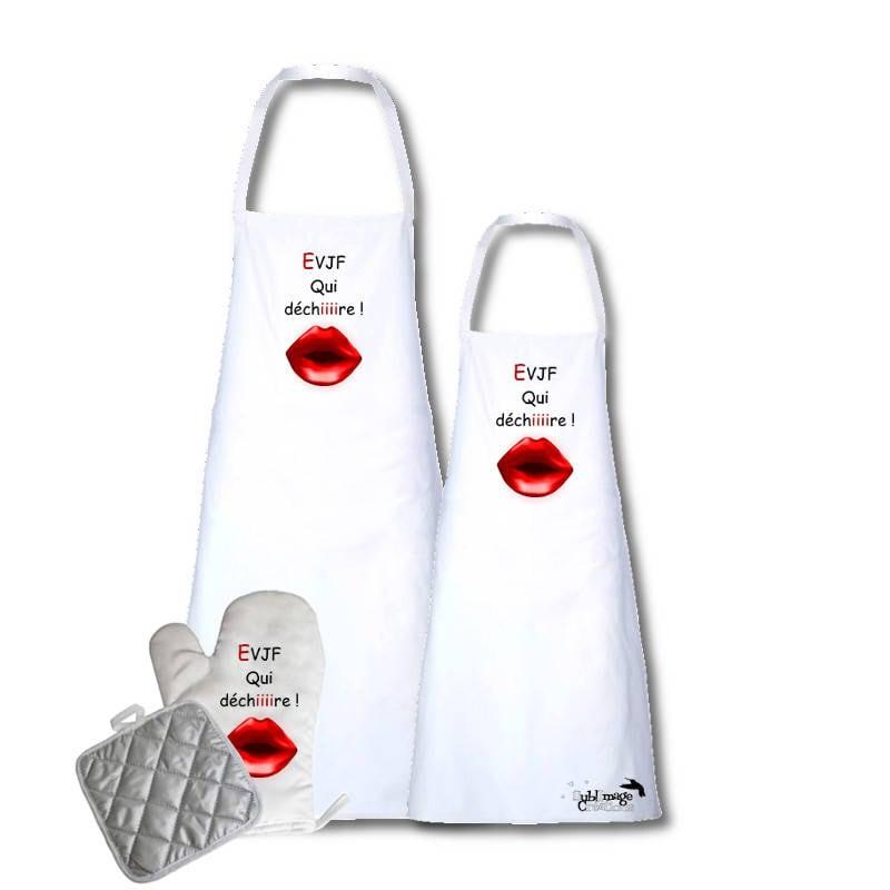 Set Tablier Avec Gant Et Manique Kit Cuisine Original Temoin Qui