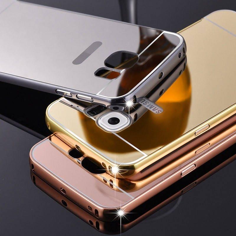 Coque compatible Samsung galaxy S7 EDGE métal miroir or , métal miroir or  rose, Métal argent, bumper métal, fond polycarbonate, 36dbfc41ad4d