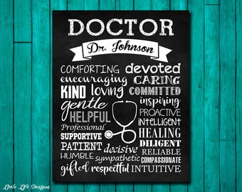 Gift For Doctor Pediatrician Doctors Office Decor Personalized
