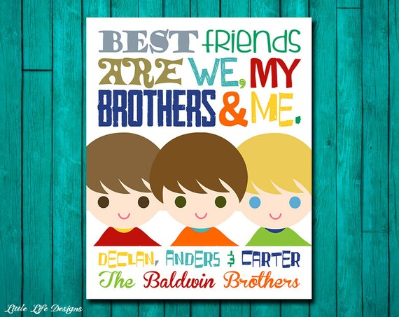Brothers Wall Art. Best Friend Brother Sign. Brothers Decor.   Etsy