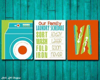 Laundry Room Signs. Laundry Schedule Sign. Laundry Room Decor. Loads of Fun. Wash Room. Endless Love & Laundry. Laundry Signs. Set of 3.