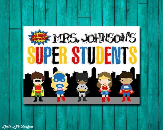 Teacher Classroom Decor Australia ~ Superhero classroom decor gift for teacher