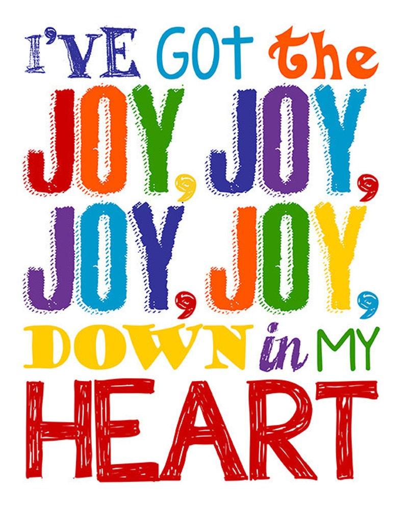 Christian song joy in my heart