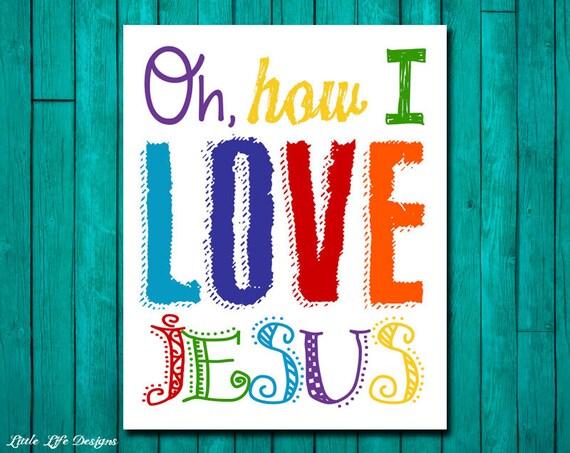 Oh how I love Jesus. Church Wall Art. Nursery Decor. Kids | Etsy