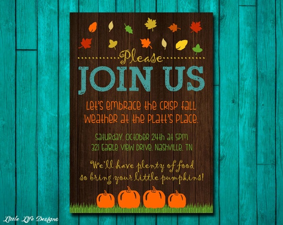 fall party invitation fall party invite bonfire invite fall etsy