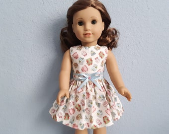Fit For 18/'/' American Girl Sundress Yellow Flower Mini Dress Gift Doll Clothes