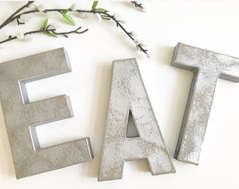 eat sign for kitchen Eat Silver Letter Kitchen Decor eat eat letters silver | Etsy eat sign for kitchen