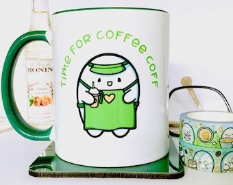 Kawaii Coffee Mug   Cute Gift   Coffee Lover Mug   Coffee Bar Decor   Fall Decor   Gift For Coffee Lover   Positive Mug   Gift For Friend
