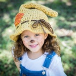 Scarecrow Hat - Toddler Scarecrow Hat - Child Scarecrow Hat - Newborn Scarecrow Hat - Halloween Costume - Wizard of Oz - Adult Scarecrow Hat