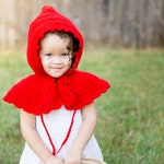 Little Red Riding Hood - Red Hooded Cape - Baby Girl Photography Prop - Hooded Cape - Fairy Tale Costume - Storybook Character
