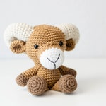 Ram - Bighorn Sheep - Sheep Plush - Keepsake Gift - Baby Boy Gift - Baby Announcement
