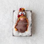Newborn Turkey Hat - Baby's First Thanksgiving - Infant Turkey Hat - Baby Turkey Hat - Boy Girl Turkey Hat - Thanksgiving Photo Prop