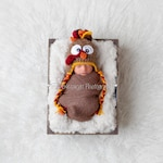 Newborn Turkey Hat - Baby's First Thanksgiving - Infant Turkey Hat - Baby Turkey Hat - Boy Girl Turkey Hat - Thanksgiving Photo Prop