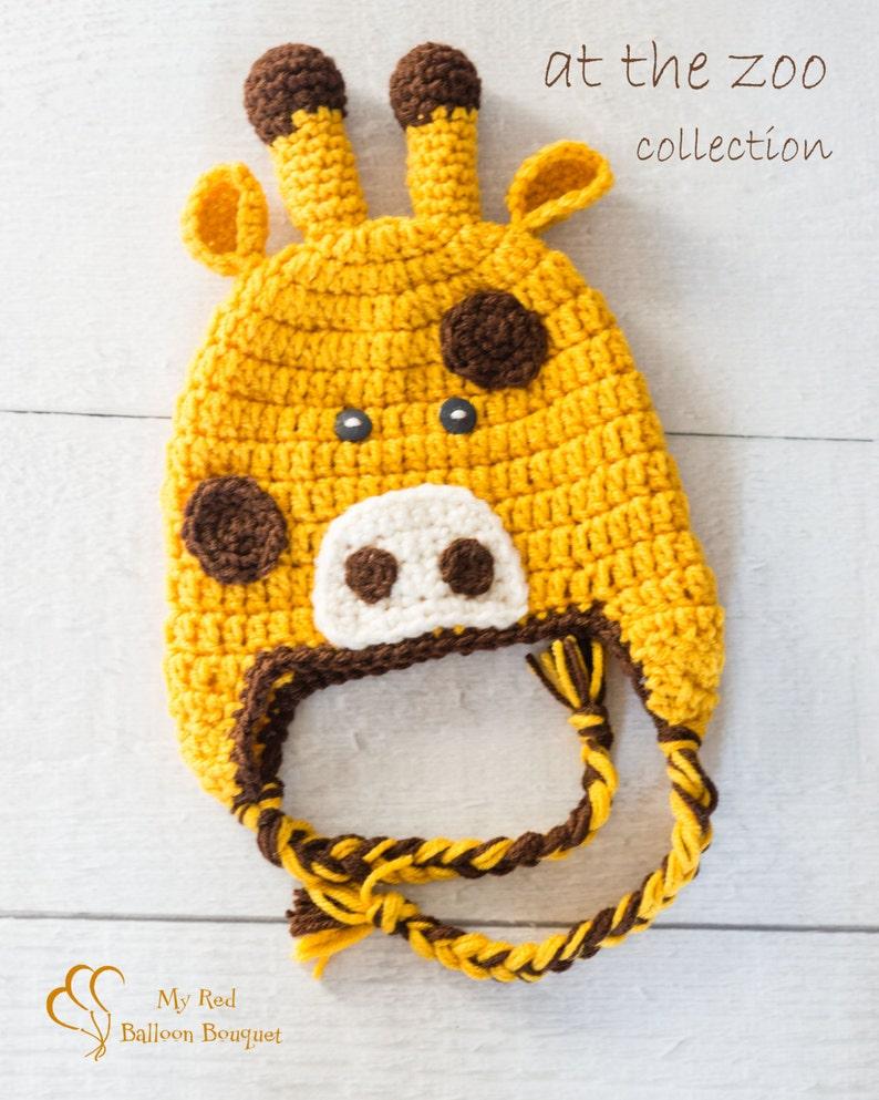 Giraffe Hat  Child's Giraffe Hat  Zoo Animal Hat  Child image 0