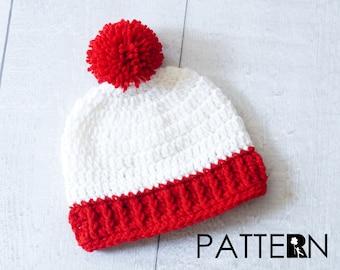 Pom Pom Beanie Crochet Pattern - Newborn, Baby, Toddler, Child, & Adult - Crochet Tutorial - Beanie Hat - Costume Beanie