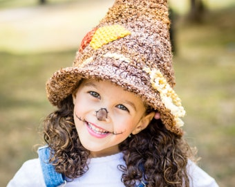 Scarecrow Costume - Wizard of Oz - Newborn Scarecrow Hat - Baby Scarecrow - Toddler Scarecrow Hat - Halloween Costume - Sibling Costume
