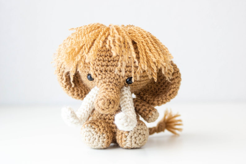 Wooly Mammoth Plush Toy  Baby Shower Gift Boy  Boys Room Wooly Mammoth