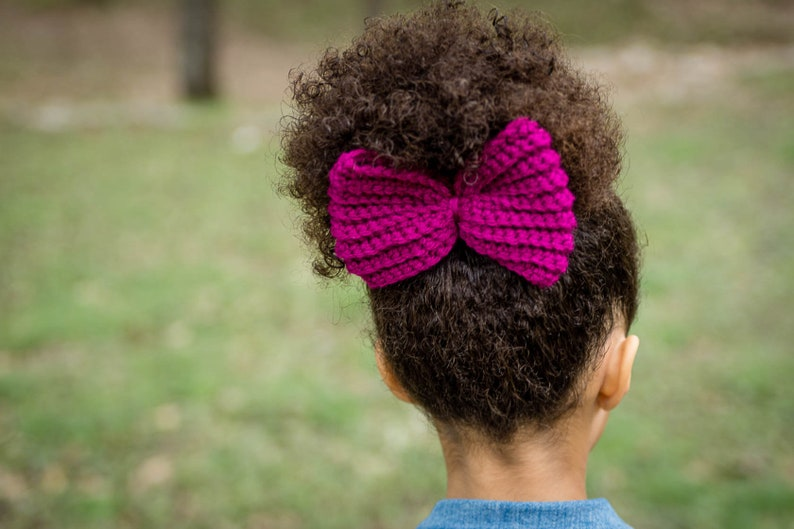 Messy Bun Bow  Ponytail Bow  Stocking Stuffer  Gifts for image 0