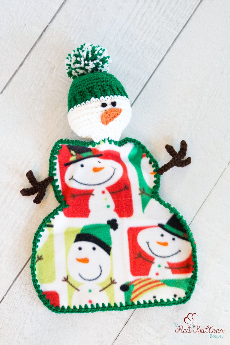 Christmas Blanket  Snowman Blanket  Baby's First image 0