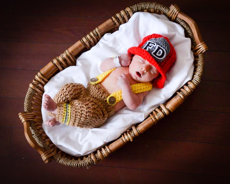 Baby Fireman Outfit  Firefighter Costume   Baby Shower Gift image 0