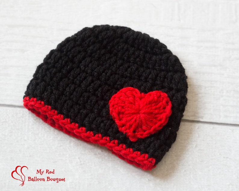 Red Heart Hat for Valentine's Day  Valentine's Day image 0