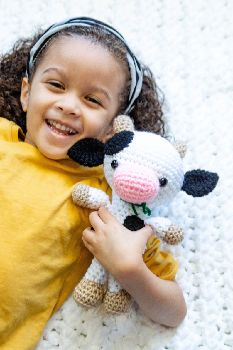 Cow Plush  Cow Stuffed Animal  Farm Birthday  Farm Animal image 0
