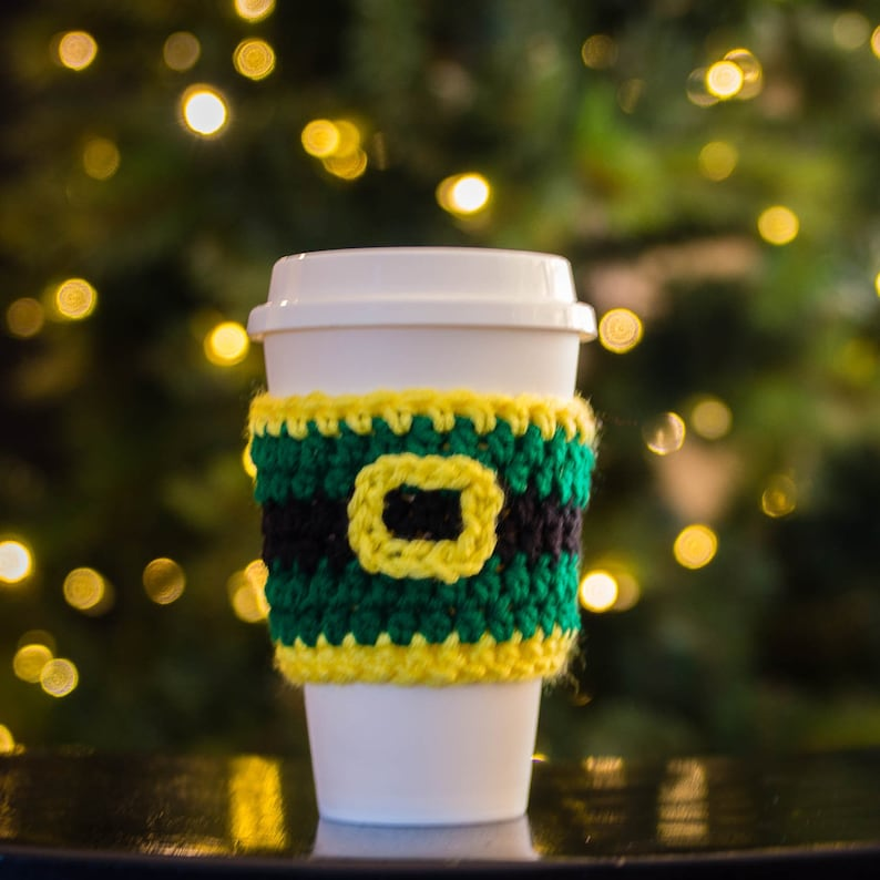 Elf Christmas Cup Cozy  Coffee Lover Gift   Coffee Travel image 0