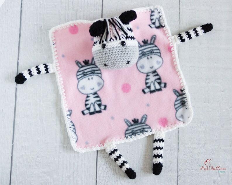 Lovey Blanket  Zebra Blanket  Baby Lovey Blanket  image 0