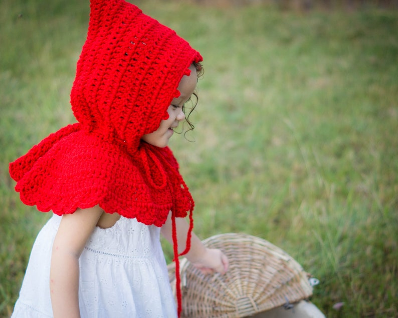 Little Red Riding Hood  Red Hooded Cape  Baby Girl image 0