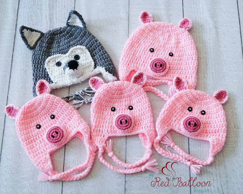 Family Costume Set  3 Little Pigs and the Big Bad Wolf  image 0
