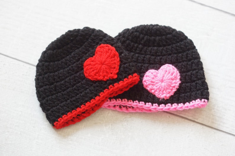 Valentine's Day Hat with Heart  Twin Valentine Hat  image 0