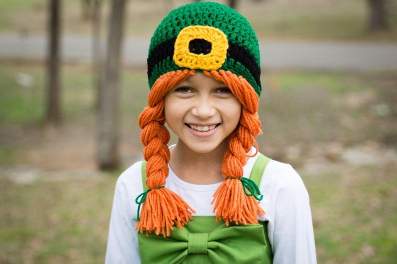 Girl Leprechaun Hat  Girl Leprechaun Halloween Costume  Girl image 0