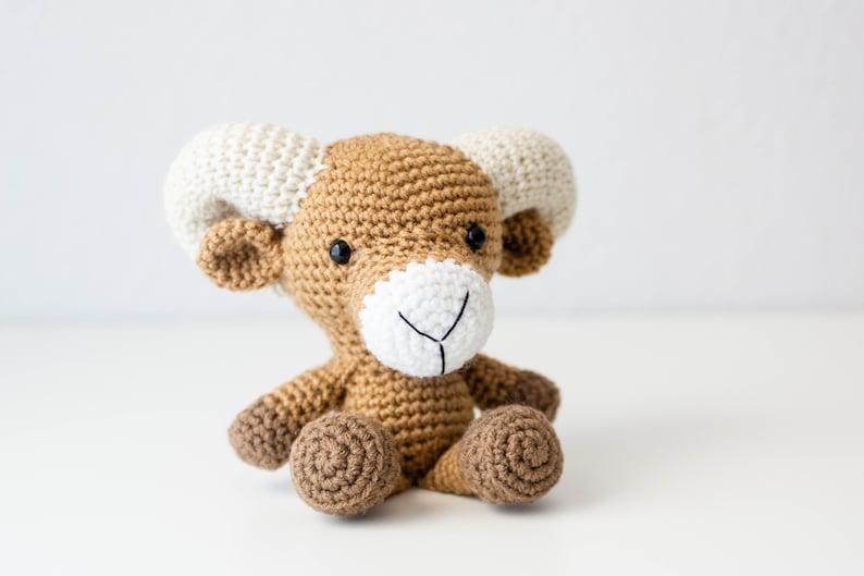 Ram  Bighorn Sheep  Sheep Plush  Keepsake Gift  Baby Boy image 0