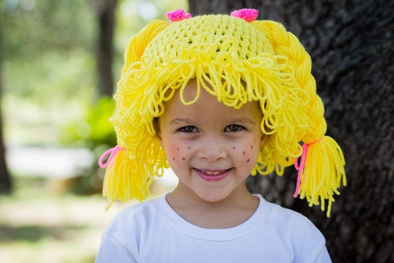 Cabbage Patch Wig Hat  Cabbage Patch Kid Wig For Baby  Yellow