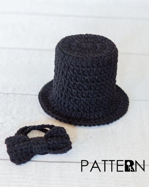 Top Hat Crochet Pattern Bow Tie Crochet Pattern Baby Top Etsy