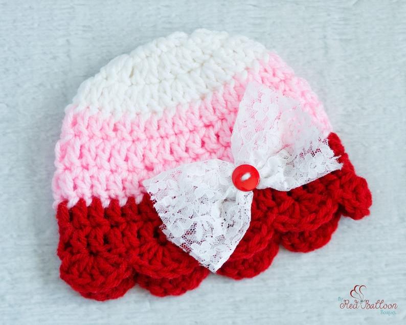 678dcbf80bf Baby Valentine s Hat Baby s First Valentine s